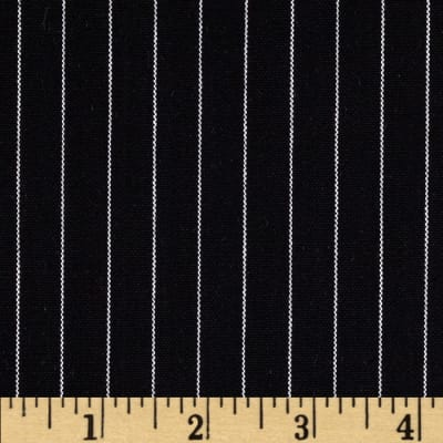 Kaufman Uniform Basics Maxima Yarn Dyed Pin Stripe Black