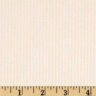 Kaufman Oxford Yarn Dyed Small Stripe Yellow