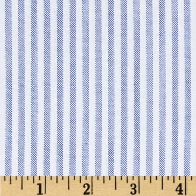 Kaufman Oxford Yarn Dyed Large Stripe Blue