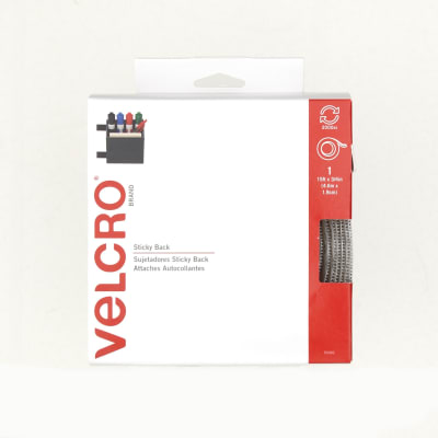 "Velcro Sticky Back Tape Roll  3/4"" x 5YDs White"