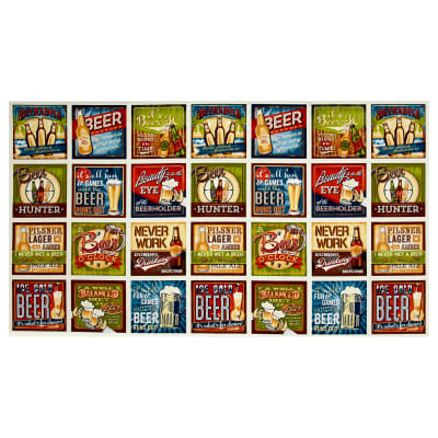 "Kaufman Cheers Beer Signs 24"" Panel Ivory"