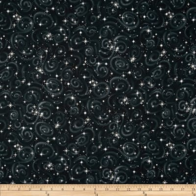 Stargazers Star Texture Black Metallic