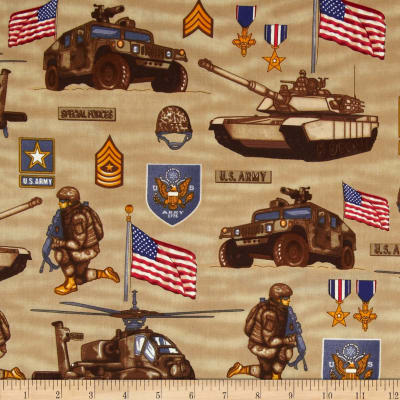 United We Stand US Army Collage Khaki