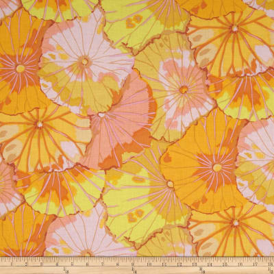 Kaffe Fassett Collective Lotus Leaf Yellow