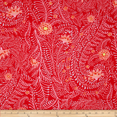 Kaffe Fassett Collective Ferns Red