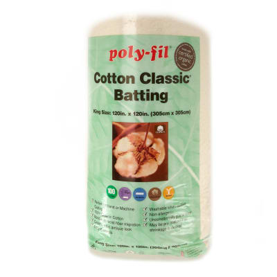 Fairfield Organic Cotton Classic Batting King 120