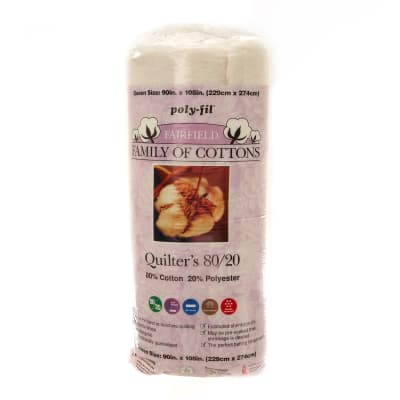 "Fairfield Quilters 80/20 Batting Queen    90"" X 108"""