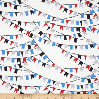 Kanvas Cabana Nautical Flags White