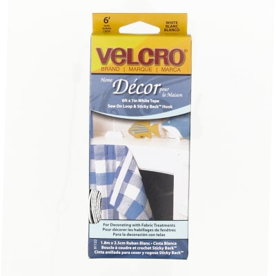 "Velcro Home Decor Tape Roll 1"" x 6' White"