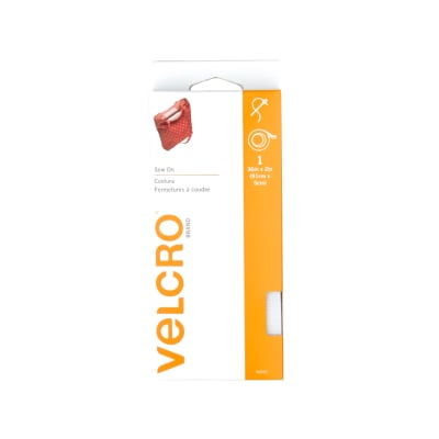 """Velcro Sew On Sng Free Tape 2"""" x 1yd White"""