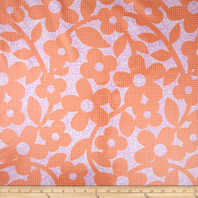 Erin Mcmorris Weekends Laminate Dots And Loops Peach