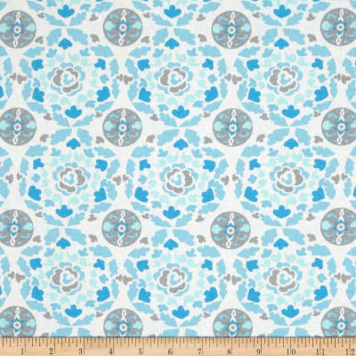 Dena Designs Sunshine Linen Blend Circle Aqua