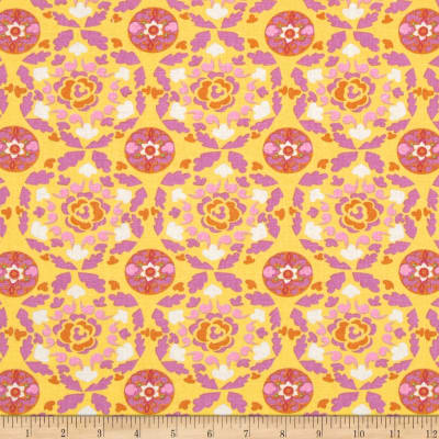 Dena Designs Sunshine Linen Blend Circle Yellow