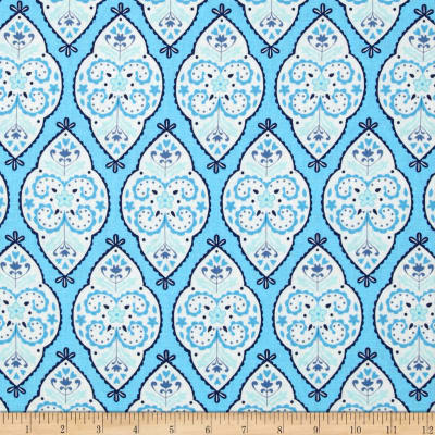 Dena Designs Home Décor Linen Blend Sunshine Medallion Aqua