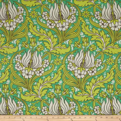 Amy Butler Temple Home Decor Sateen Tulips Emerald