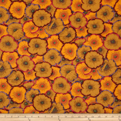 Philip Jacobs Home Décor Sateen Spring 2012 Pictte Poppies Ochre