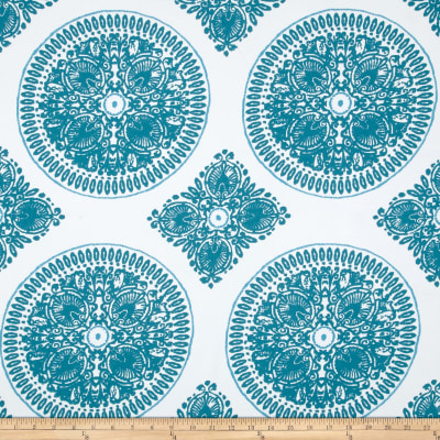 Ty Pennington Home Décor Sateen Fall 11 Medallion Teal