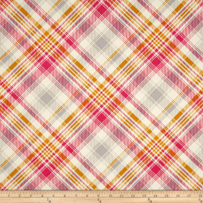 Joel Dewberry Home Décor Sateen Notting Hill Tartan Pink
