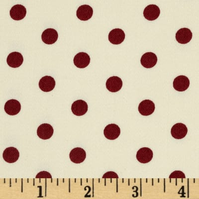 Tanya Whelan Petal Home Decor Sateen French Dots Red