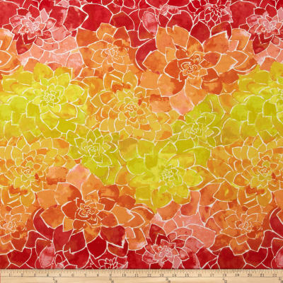 Island Breeze Large Geo Floral Orange