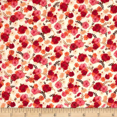 Blissful Moments Mini Floral Red