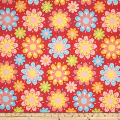 Riley Blake Just Dreamy 2 Flannel Large Floral Red
