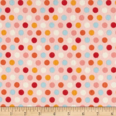 Riley Blake Just Dreamy 2 Flannel Dots Pink