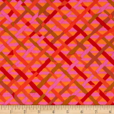 Kaffe Fassett Collective Mad Plaid Red