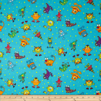 Silly Gilly & Friends Characters Turquoise/Blue