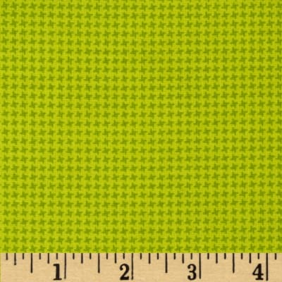 Silly Gilly & Friends Houndstooth Green