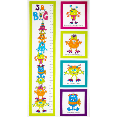 Silly Gilly & Friends Growth Chart Panel White