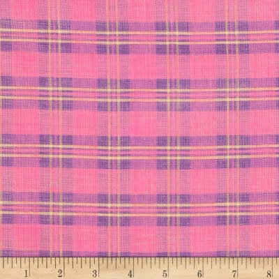 Metallic Shot Cotton Plaid Pink/Purple