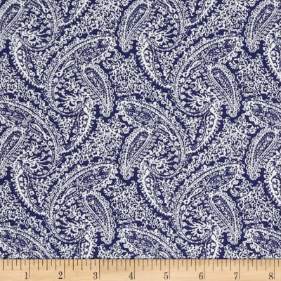Dots and More Paisley Navy