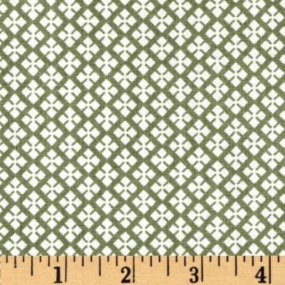 Dots and More Geo Diamonds Olive/White
