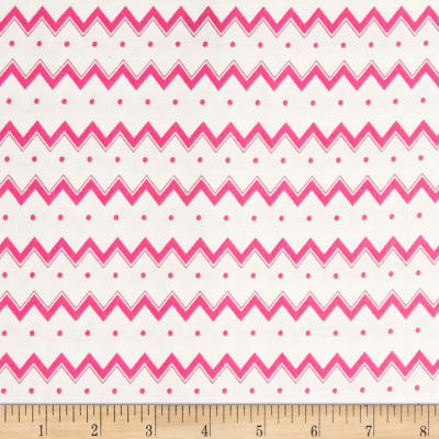 Dots and More Zig Zags & Dots White/Pink