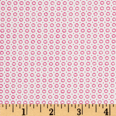 Dots and More Mini Flower Heads White/Pink