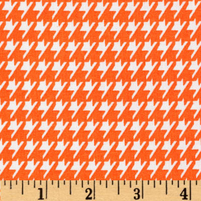 Dots and More Houndstooth Orange/White