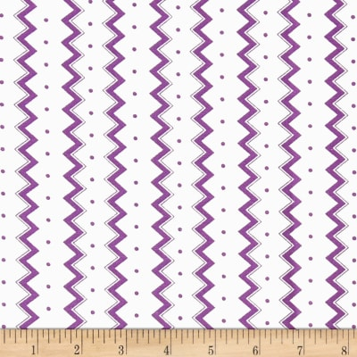 Dots and More Zig Zags & Dots White/Purple