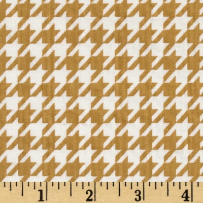 Black & Tan Houndstooth White/Marigold