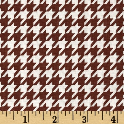 Black & Tan Houndstooth Cognac