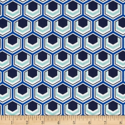 Singin' the Blues Hexagons Multi