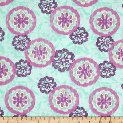 Spiro Ikat Tossed Flowers Green