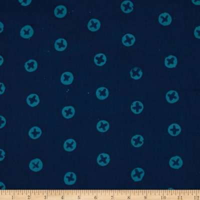Alison Glass Hand Dye Batiks Dots Dark Teal