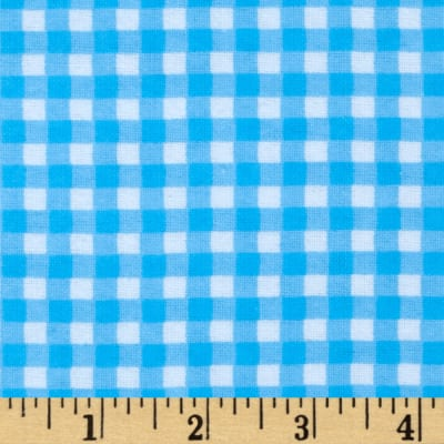 Flannel Gingham Blue