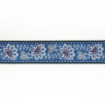 "1 1/2""French General Flowers on Blue"