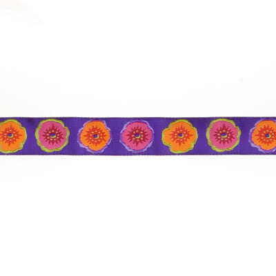 "7/8""Philip Jacobs Picotee Poppy on Purple"