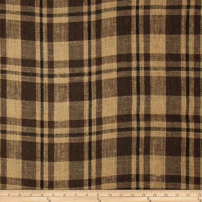 "60"" Sultana Burlap Plaid Natural/Black"