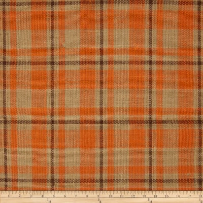 "60"" Sultana Burlap Plaid Orange"