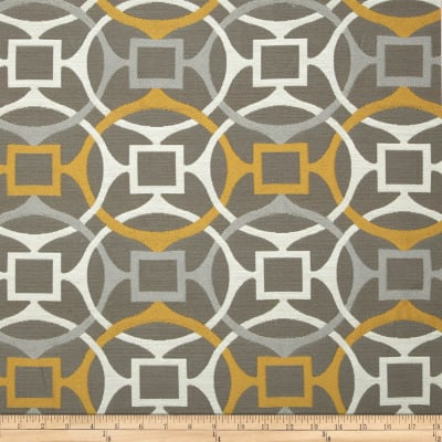 Golding by P Kaufmann Astro Upholstery Jacquard Lemon Taupe