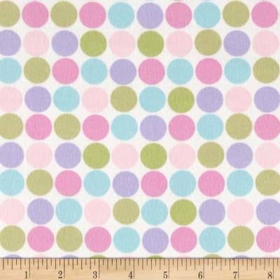 Cozy Cotton Flannel Large Dots Pastel
